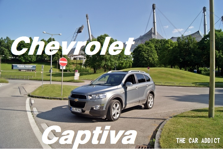 silver Chevrolet Captiva test driven in May 2012 in Munich